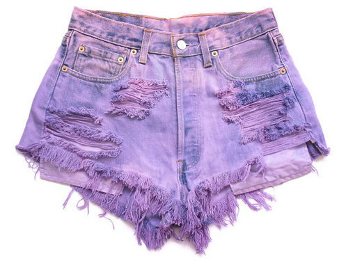 High-Waisted Purple Shorts from ShopWunderlust on Storenvy