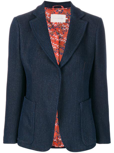 L'Autre Chose blazer women fit cotton blue jacket