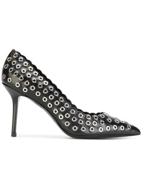 Premiata studded metal women pumps leather black shoes