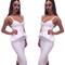 Peplum two piece bandage dress white