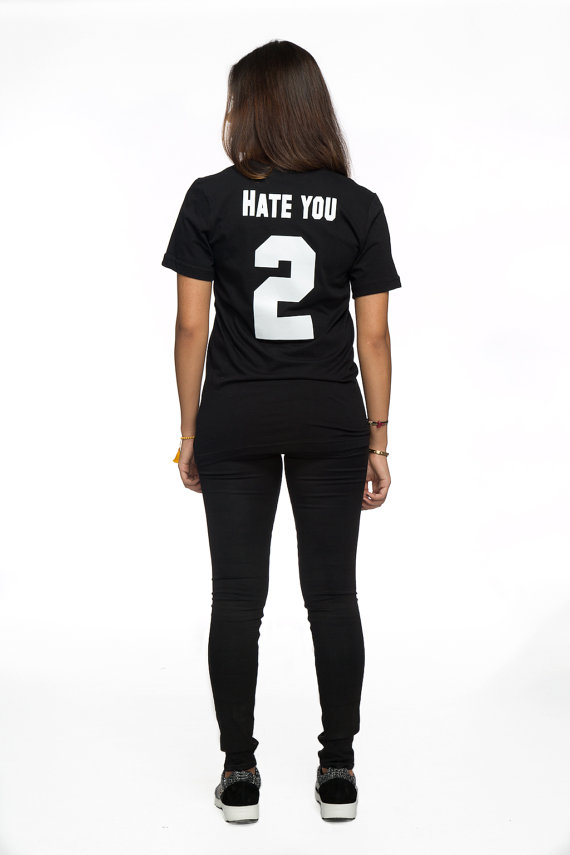Shirt tumblr shirt men women shirt hate you two shirt