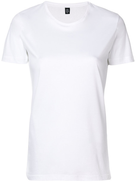 Eleventy - short sleeved T-shirt - women - Cotton - XS, White, Cotton
