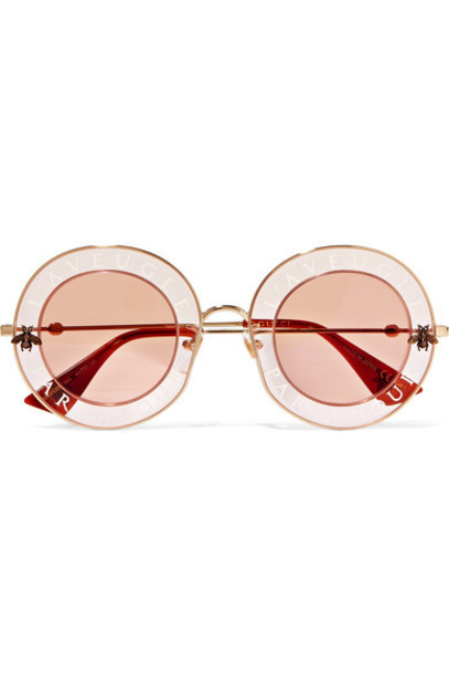 gucci sunglasses gold pink