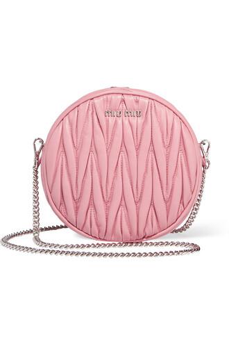 bag shoulder bag leather baby pink baby pink