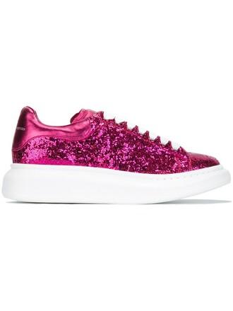 glitter women sneakers leather purple pink shoes