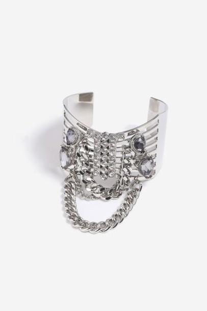 Topshop cuff clear jewels