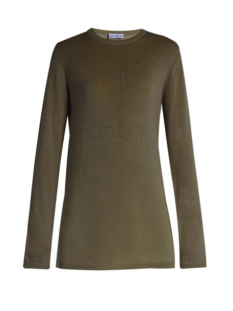 Raey sweater long knit khaki