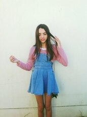 skirt,denim,dungares,pinafore,summer,blue