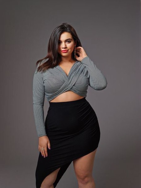 shirt grey grey crop top grey sweater crop tops long sleeve crop top