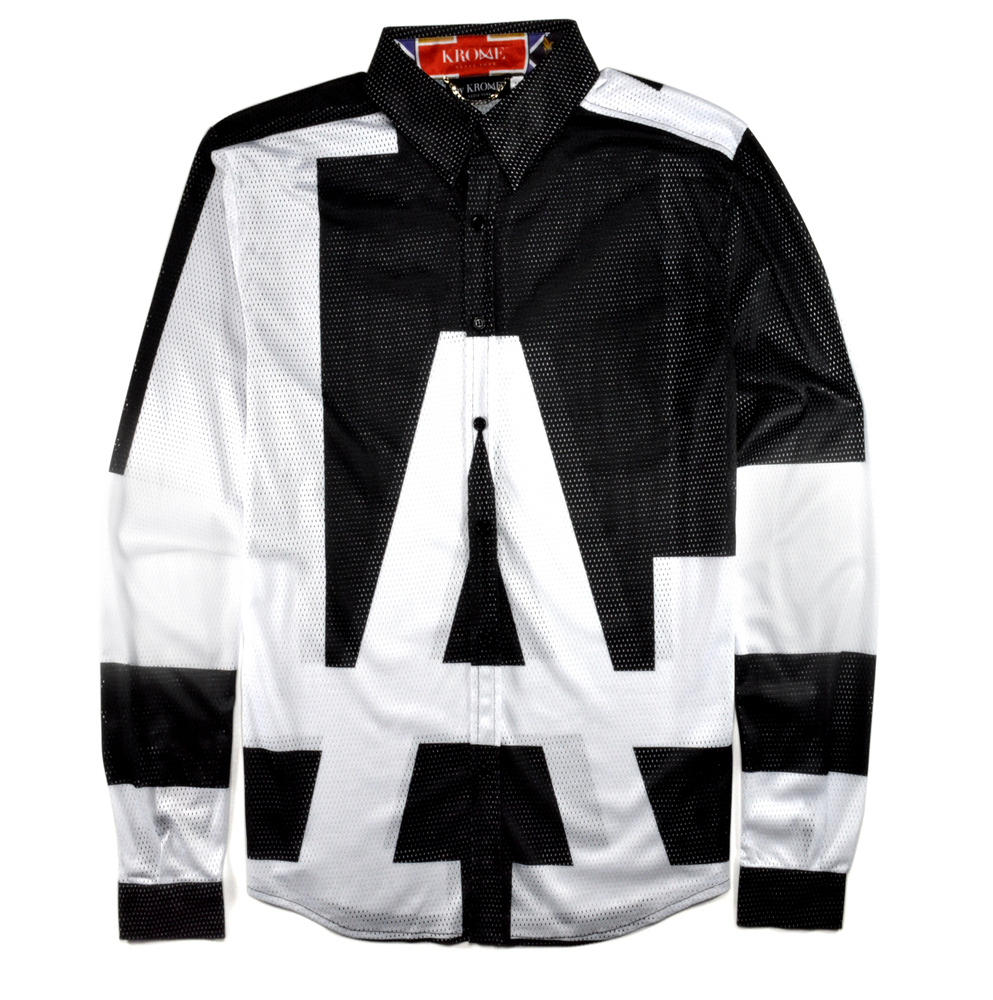 City Of Angels Mesh Button Up L/S  Shirt | by Krome.