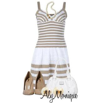 dress skirt aly monique striped dress