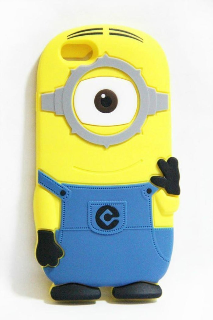 new arrival b02a9 66179 Amazon.com: EEA 3D Silicone Rubber Gel Yellow Despicable Minion Case Skin  Cover for iPhone 5C (Blue 1 Eye): Cell Phones & Accessories