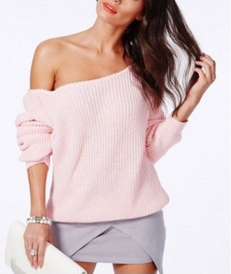 sweater girly girl girly wishlist off the shoulder off the shoulder sweater knitwear knitted sweater knit pink fall sweater