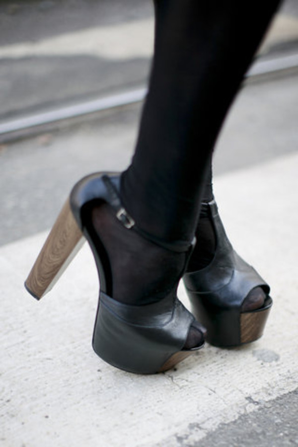high heels boots leather shoes