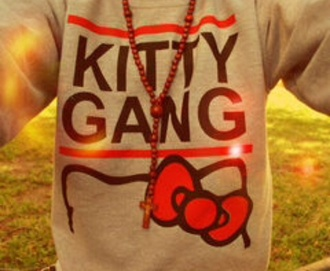 sweater sweatshirt hello kitty jewelry swag jewels