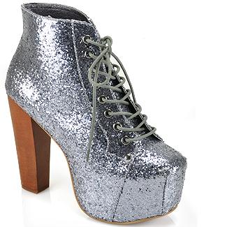 jeffrey campbell lita pewter glitter platform bootie at footnotesonline women 39 s designer shoes. Black Bedroom Furniture Sets. Home Design Ideas