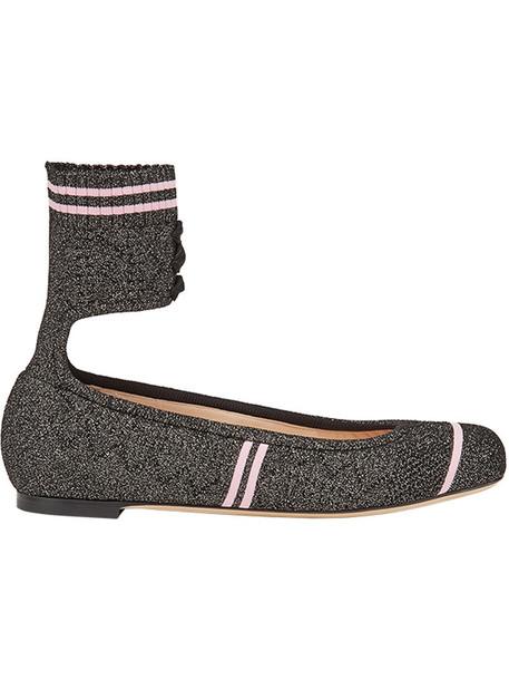 Fendi women spandex black knit shoes