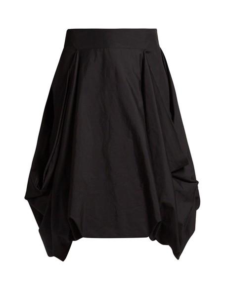 JW Anderson skirt pleated skirt pleated draped black