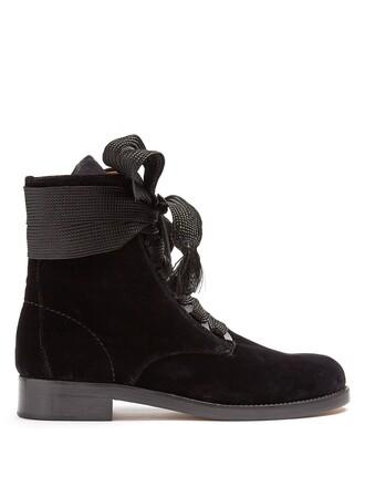 velvet ankle boots ankle boots lace velvet black shoes