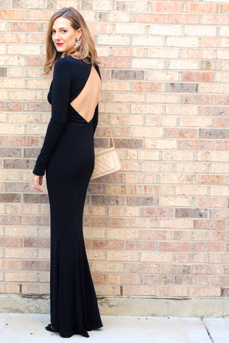 see jane blogger jacket evening dress backless dress clutch