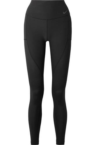 leggings cropped mesh fit black pants