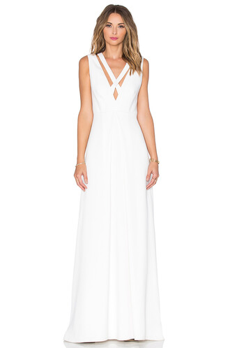 gown cross white