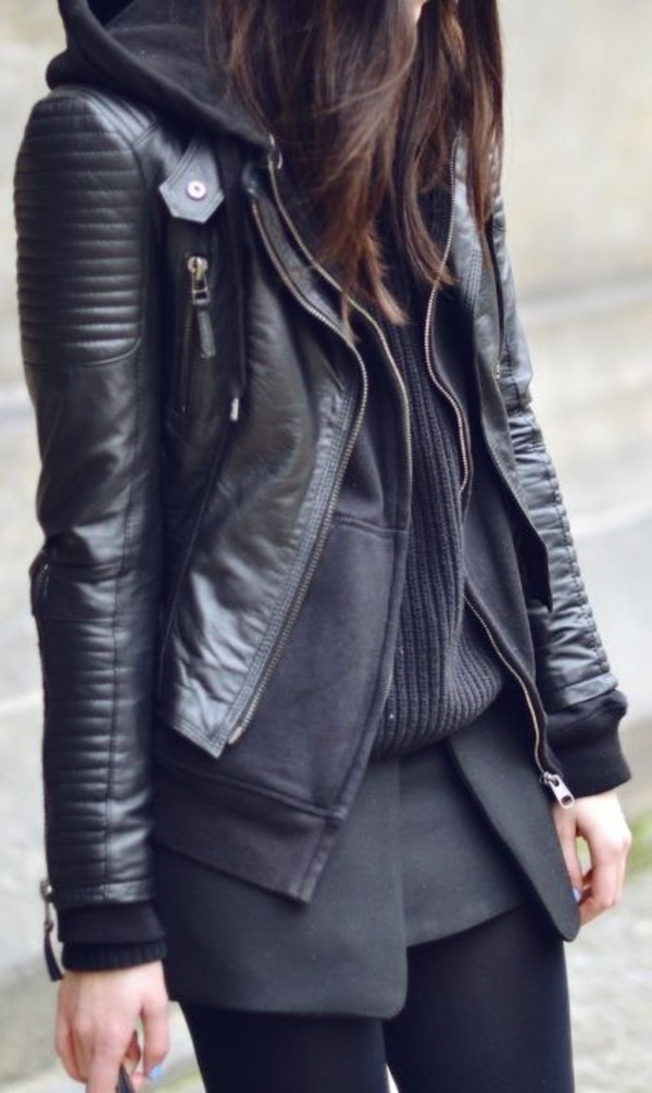Long Black Leather Jacket | Outdoor Jacket