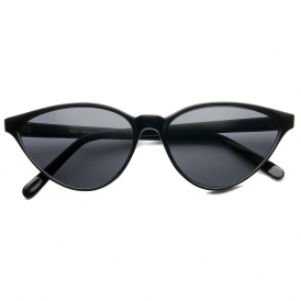 Vaider vintage cat eye frame sunglasses (black/smoke)