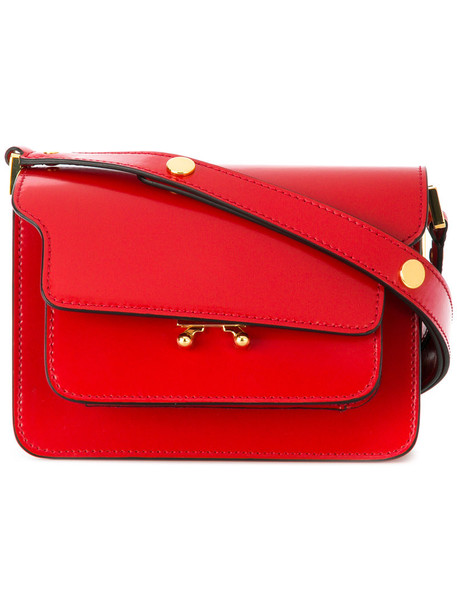 MARNI mini women bag shoulder bag leather red