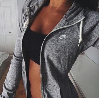 coat nike hoodie grey hoodie zip