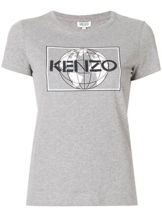 t-shirt shirt women cotton grey top