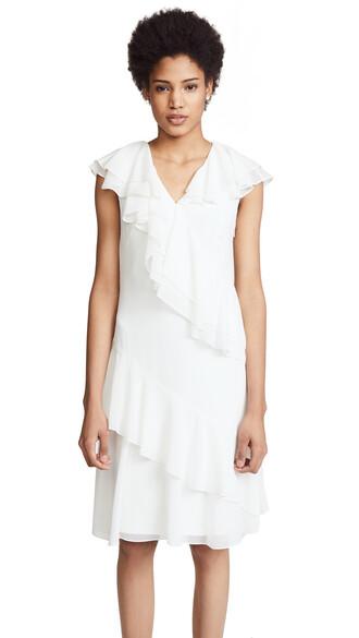 dress ruffle dress ruffle white