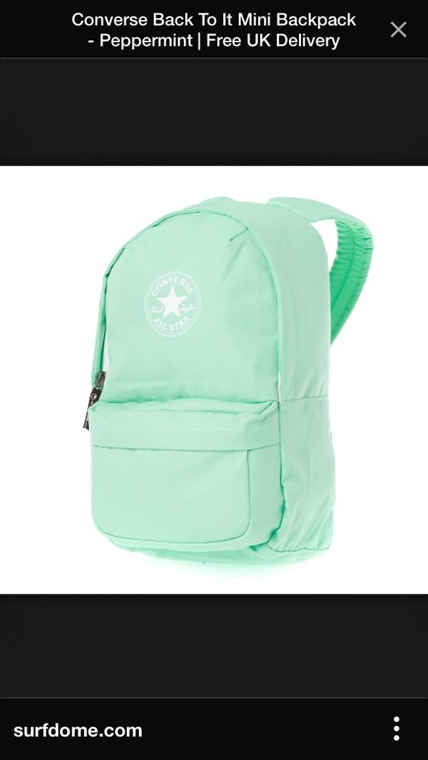 bag turqoise backpack converse