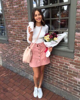 skirt olivia culpo button up skirt pink skirt