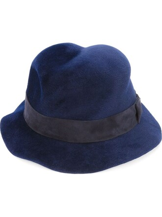 fur women hat blue