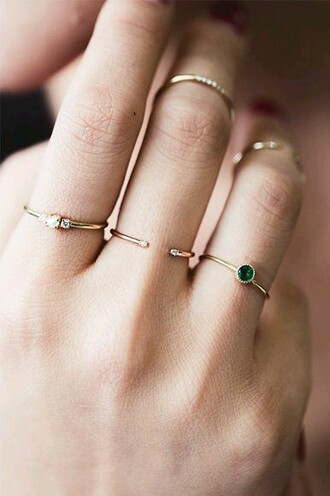 jewels wedding accessories classy jewelry ring gold dainty gold ring knuckle ring prom beauty prom stacked jewelry