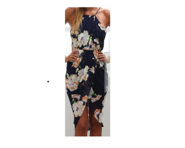 dress floral dress knee length dress