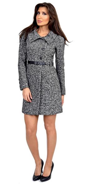 Soia & kyo classic black wool coat with belt