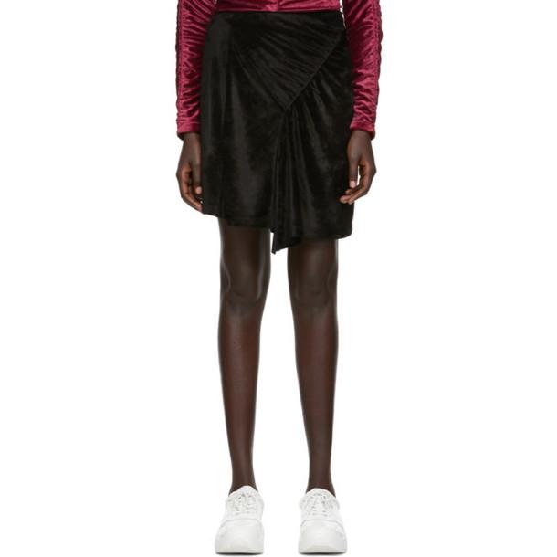 Kenzo Black Limited Edition Holiday Velvet Frilled Skirt