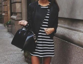 dress stripes white black