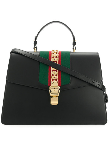 gucci women leather black bag