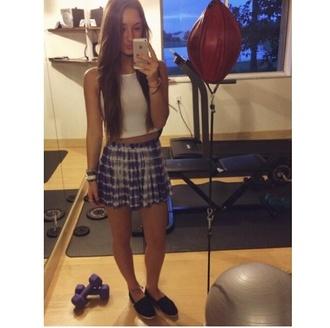 skirt cotton striped skirt mint skirt mini skirt purple skirt white skirt dip dyed dip dye dipdye dip-dye dipdie skater skirt circle skirt white lace skirt