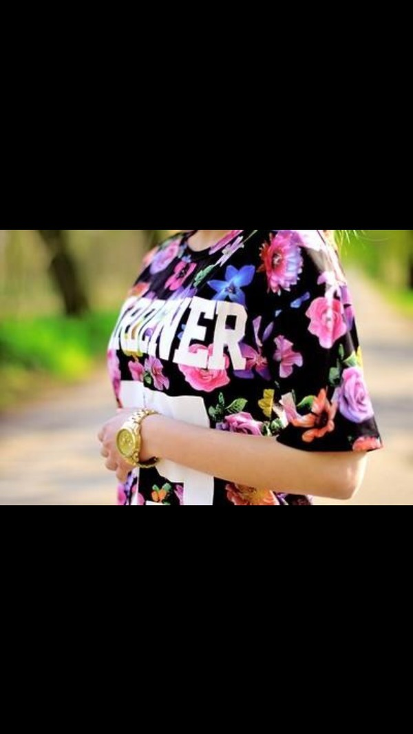 t-shirt number tee floral