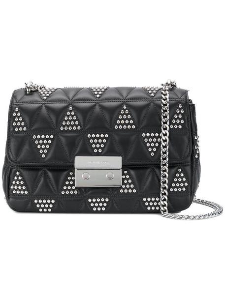 MICHAEL Michael Kors triangle women handbag leather black bag
