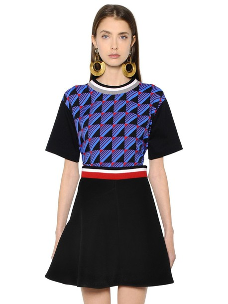 MARNI t-shirt shirt t-shirt cotton print blue black top