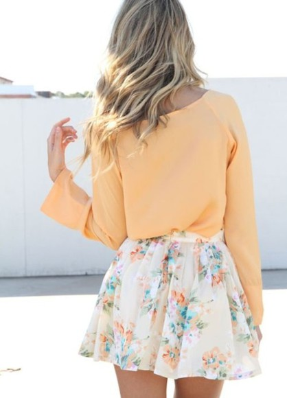 spring skirt color