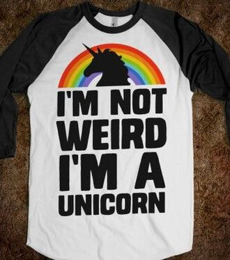 shirt clothes t-shirt unicorn rainbow cute