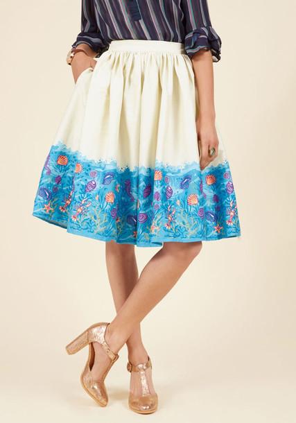 VSS170306C skirt midi print white