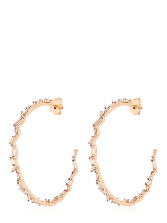 earrings hoop earrings rose gold rose gold jewels
