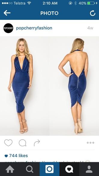 dress backless tight low cut